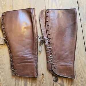 Vintage Lace Up Leather Gaiters